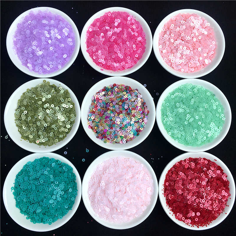 3000Pcs/Pack 3mm Frosted Color Round Sequins Dull Polish PVC Loose Sequins Paillettes Sewing Wedding Craft Garments Accessories