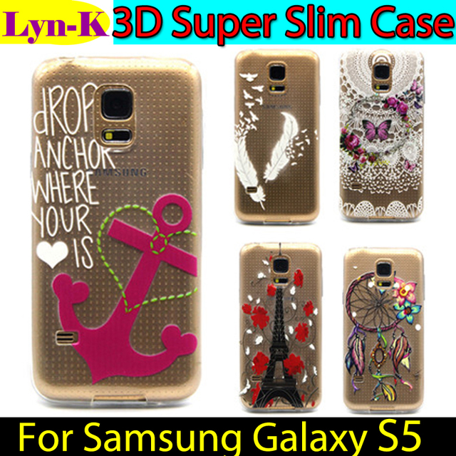 3D TPU Case sFor Samsung Galaxy S5 S5Neo Cover SM-G900H SM-G900F TPU Protection Phone Cover Silicon Gel Coque FOR GALAXY S5 Neo