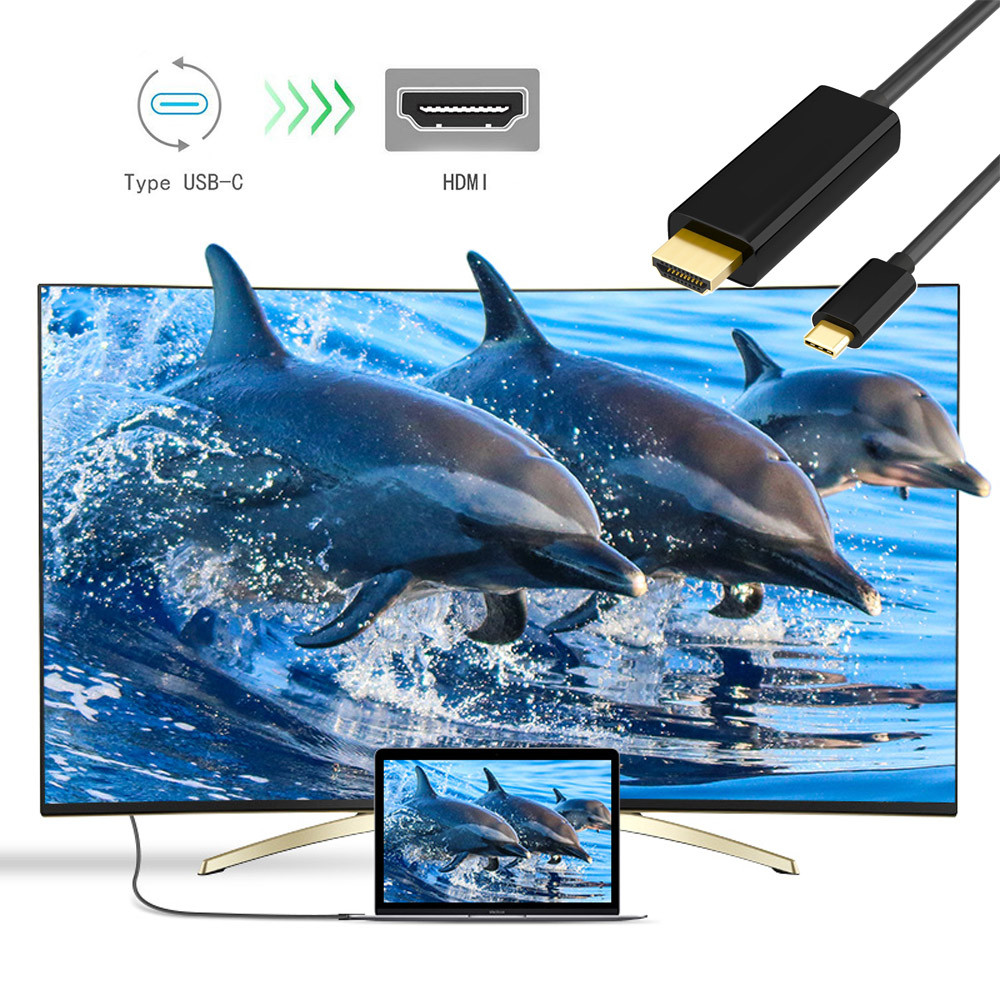 Type-C To HDMI Mirroring Adapter 4K Cable Adaptor For Samsung for Phone TV 18mar20