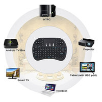i8 English Version i8+ 2.4GHz Wireless Keyboard Air Mouse Teclado Inalambrico Touchpad Handheld for Android TV BOX Mini PC 4