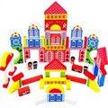 Calidad De Madera Bloques de Construcción Para Niños juguetes educativos 53 unidades y coloridos bloques de impresión, envío ShippingJM021