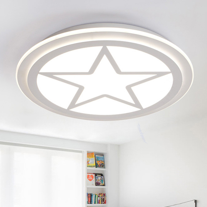 Modern Led Ceiling Lights for kids room American captains shield Dimmable LED children lights for bedrooms Lamparas De Techo китайский captains of crush купить