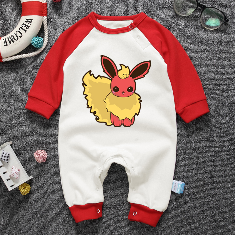 Newborn Spring Autumn Rompers 2018 Cute Anime Cartoon Print Baby Girl Boy Bear Jumpers Rompers Playsuit Outfits Clothes