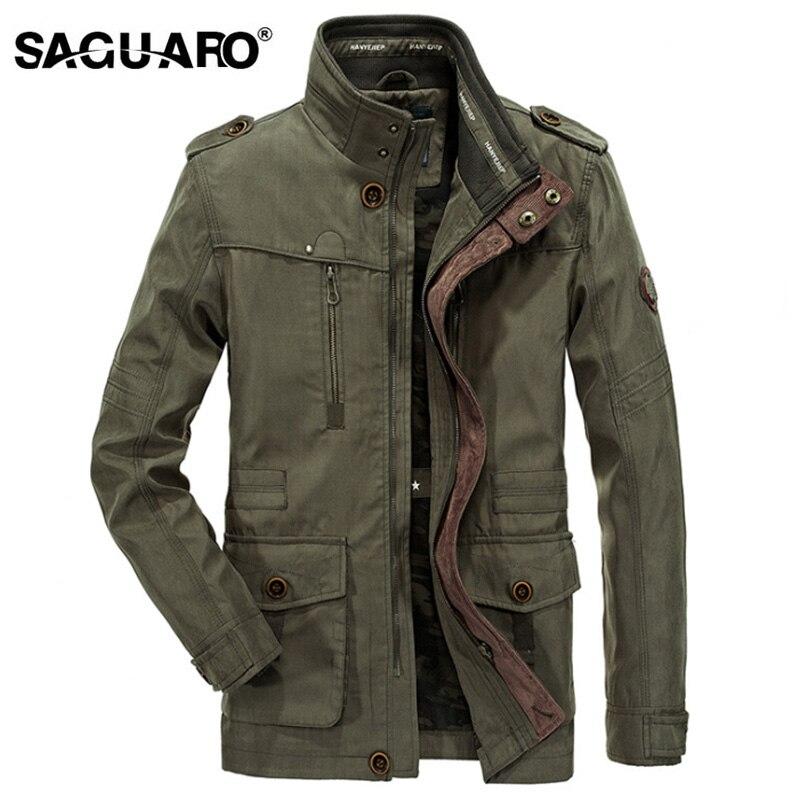 SAGUARO Мужская Весенняя осенняя куртка мужская мода Стенд воротник мульти-карманы повседневная мужская куртка chaquetas hombre плюс размер M-6XL