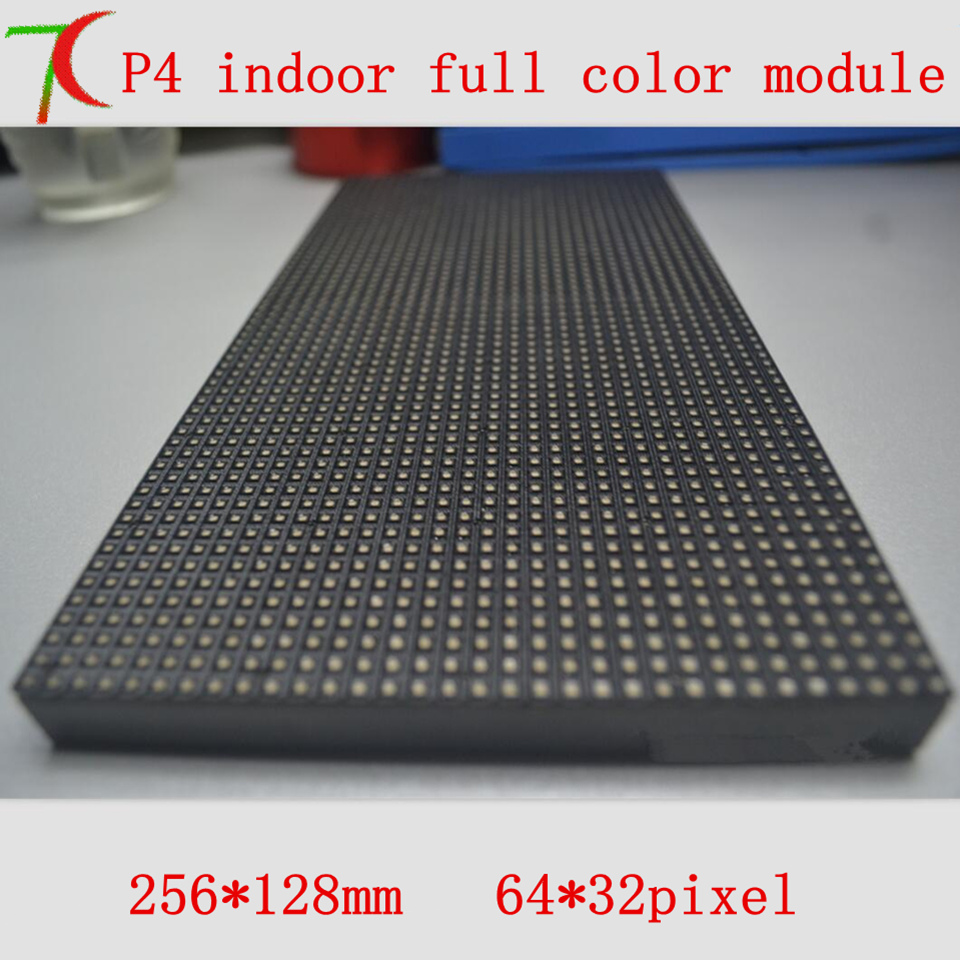 Indoor High Definition P4  Full Color Module For Install Led Display, SMD,1R1G1B,16scan,62500dots/m2