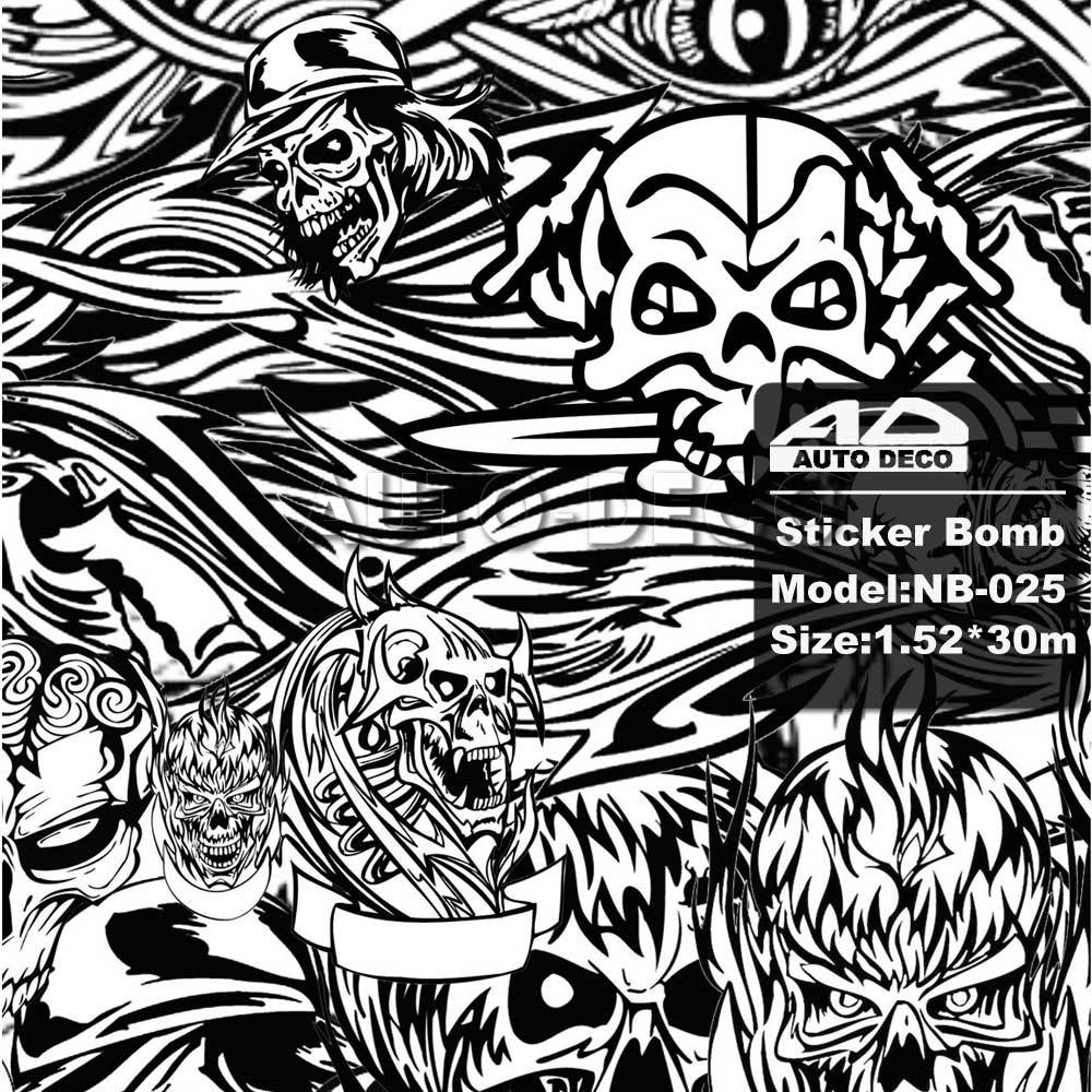 Sticker bomb car design - Aliexpress Com Buy Skull Camouflage Vinyl Film Car Sticker Bomb Black White Vinyl Wrap Auto Color Change With Air Bubble Free Size 1 52 30m Roll From