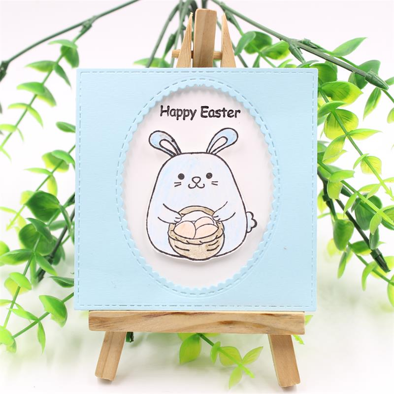 YPP CRAFT Happy Easter Transparent Clear Silicone Stamps for DIY Scrapbooking/Card Making/Kids Christmas Fun Decoration Supplies
