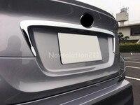 1PCS ABS Exterior Rear Door Central Mouldings Auto Car Rear Trunk Lid Moulding Trim For Toyota C HR CHR 2016 2017