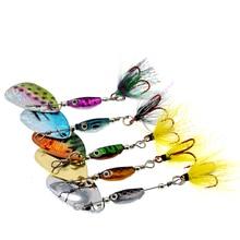 WLDSLURE 1 pièces 6.5g spinner cuillère métal appât Fishin leurre paillettes manivelle cuillère appâts pour basse truite perche brochet rotatif pêche