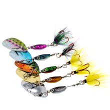 WLDSLURE 1Pcs 6.5g spinner Spoon Metal Bait Fishin Lure Sequins Crankbait Spoon baits for Bass Trout Perch pike rotating Fishing