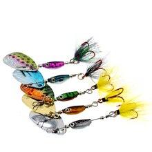 WLDSLURE cuchara giratoria de 6,5g, cebo metálico, señuelo de pesca de lentejuelas, Crankbait, para pesca de lubina, perca de trucha