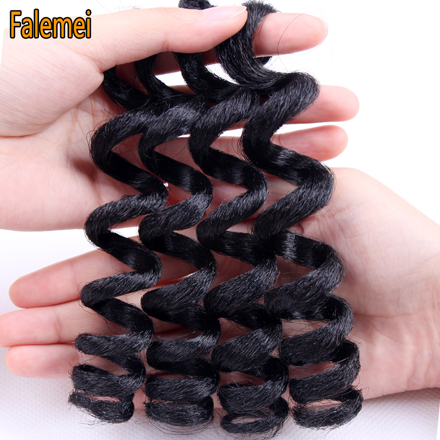 FALEMEI 6inch crochet braids Short curly hair 70g 20strands/pack crochet braids hair extension Kanekalon Twist Synthetic hair