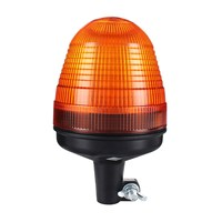 NEW LED Amber Beacon Flexible Rotating Flashing DIN Pole Mount Tractor Warning Light Safety