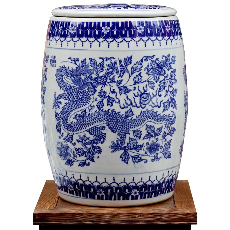 Novel Chinese Blue And White Ceramic Porcelain Garden