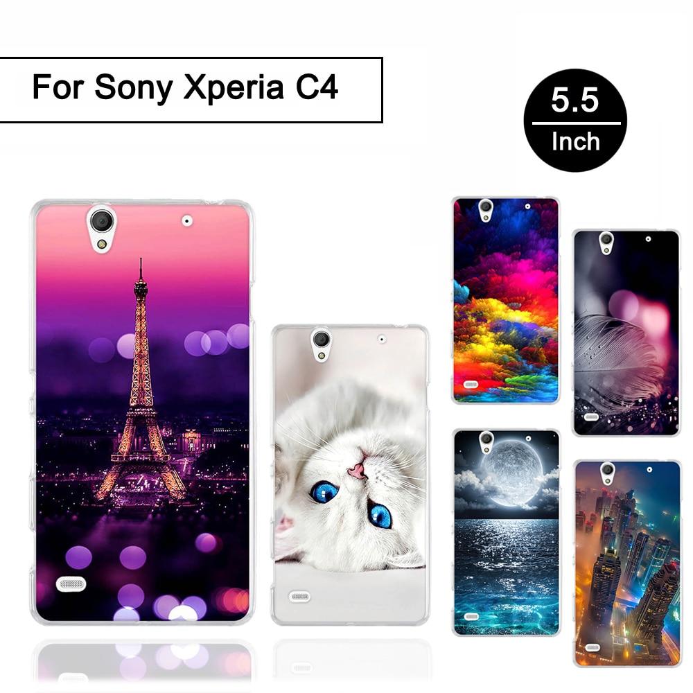 Soft TPU Case for Sony Xperia C4 E5303 E5306 E5353 Print Painted Back Phone Cover For Sony Xperia C4 Silicone Fundas Shells Bags