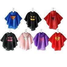 Детский плащ из полиэстера с Суперменом, Бэтменом, человеком-пауком, водонепроницаемый плащ-дождевик для улицы, непромокаемое детское непромокаемое пончо для мальчиков и девочек