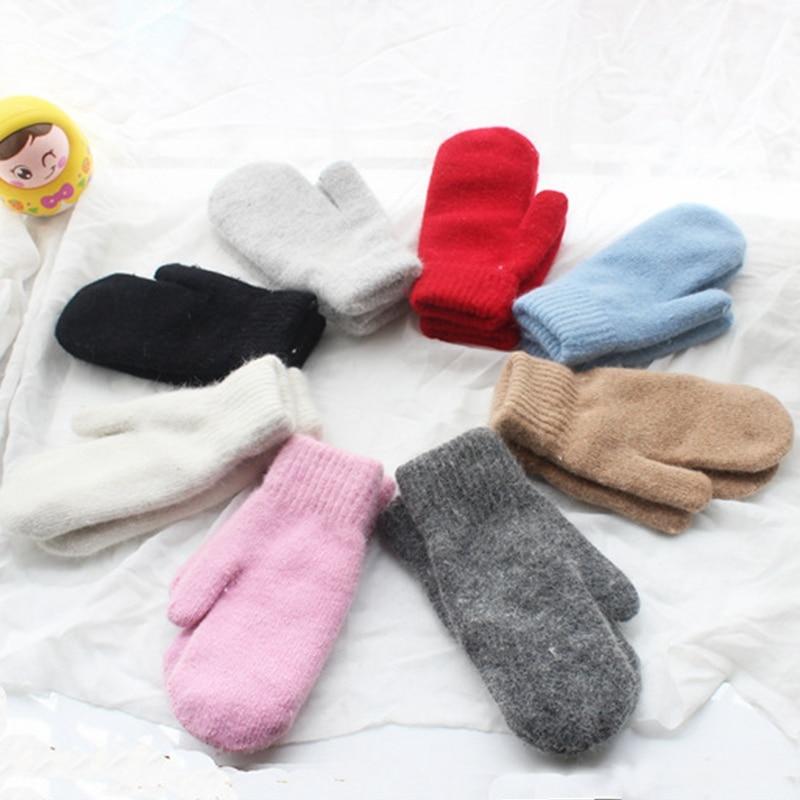 Hot Sale 2016 Fashion Women Winter Gloves Pure Color Rabbit Fur Mittens Soft Warm Candy Color  Female Gloves 7 Colors