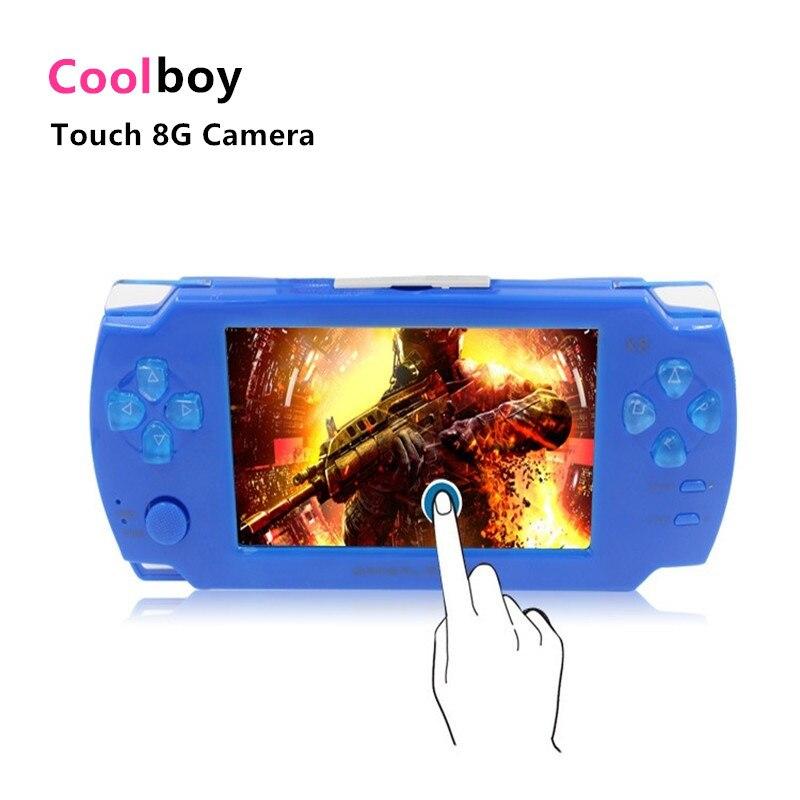 Coolboy Touch Game Console 8 gb 4.3 pulgadas Mp4 Cámara de Vídeo Portátil de Jue