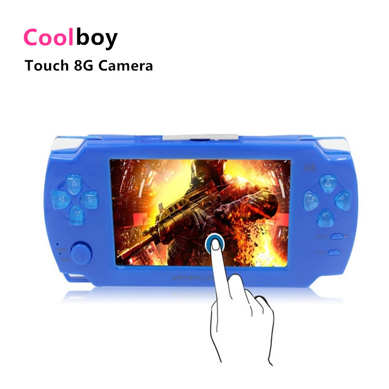 Coolboy Touch Game Console 8gb 4.3 inch MP4 Player Video Camera Gaming Portable Handheld Consoles Games With 28 Languages