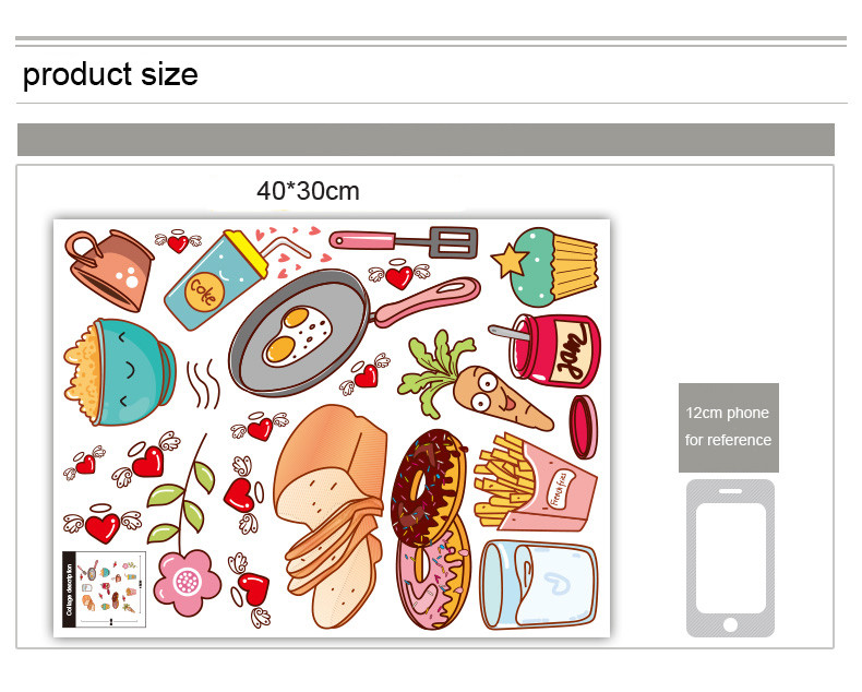 HTB1lZncLVXXXXbIXVXXq6xXFXXXP - Creative Food Pattern Self Adhesive Vinyl Removable Decal for Kitchen-Free Shipping