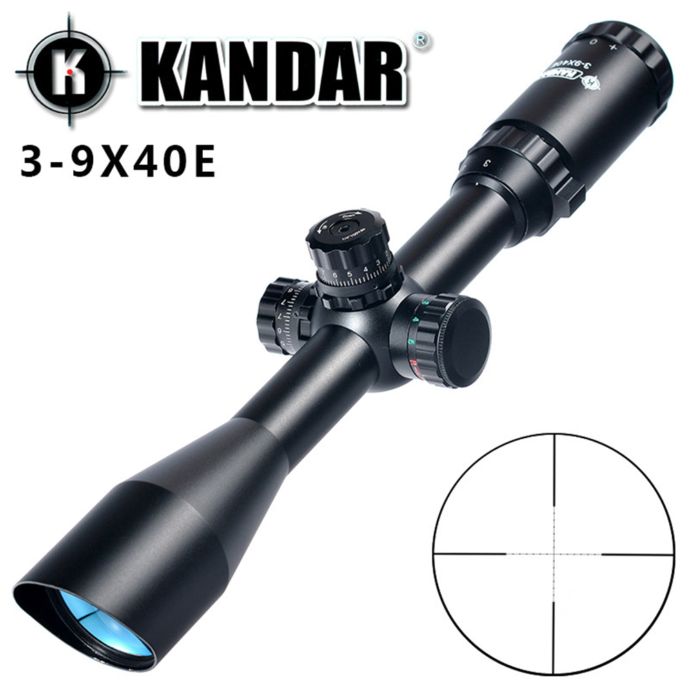 KANDAR 3 9X40EG Angled Integral Sunshade Hunting Riflescope Full Size font b Tactical b font Optical