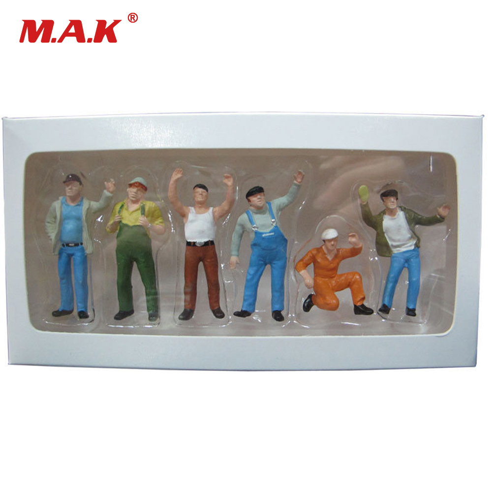 Action & Toy Figures 3cm 1:50 Construction Vehicles Sandbox Scene Workers Doll Scene Decoration Puppets Toys