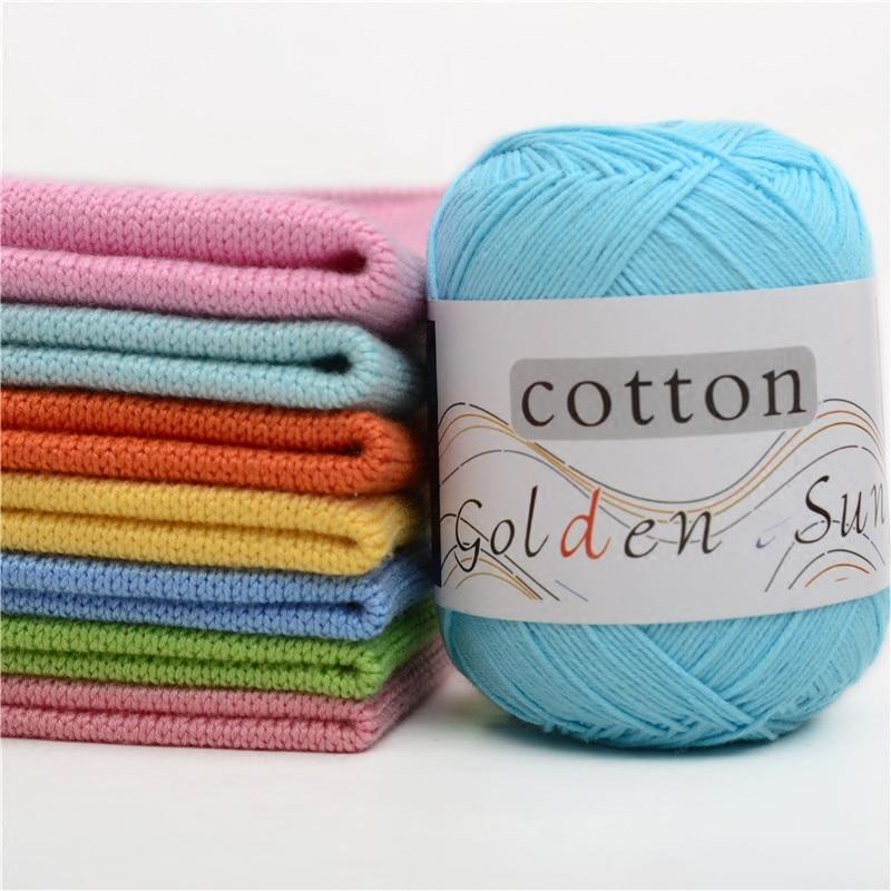 50g/ball Worsted Soft Baby Yarn 100% Cotton Yarn Hand Knitting Yarn Crochet Cotton Thread for Infant Sweater Blanket JK486
