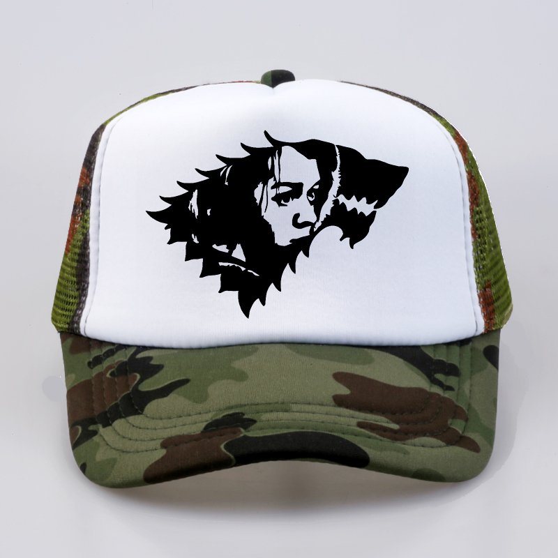 3e054b09e0e fashion Game Of Thrones Fans Baseball caps Arya Stark Trucker Mesh Cool Baseball  caps Women Men
