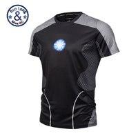 2017 Nieuwe Zomer Stijlen 3D T-Shirt Korte Mouwen Cool T Shirt Gedrukt Iron Man Robert Downey Jr Tees Tops Camisetas Hombre