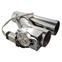3 Stainless Steel Headers Y Pipe Electric Exhaust CutOut Cut Out Kit With Remote Control Kits