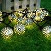 Светодиодные уличные лампы на солнечной батарее, светодиодные гирлянды, Праздничные рождественские, свадебные, праздничные гирлянды, садовые Водонепроницаемые светодиодные гирлянды на солнечной батарее