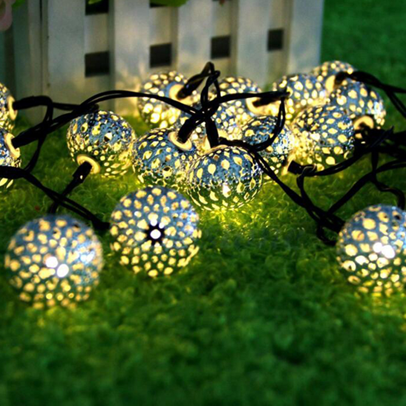 LED Outdoor Solar Lamps LED String Lights Fairy Holiday Christmas Wedding Party Garlands Solar Garden Waterproof  Led Solar Ligh