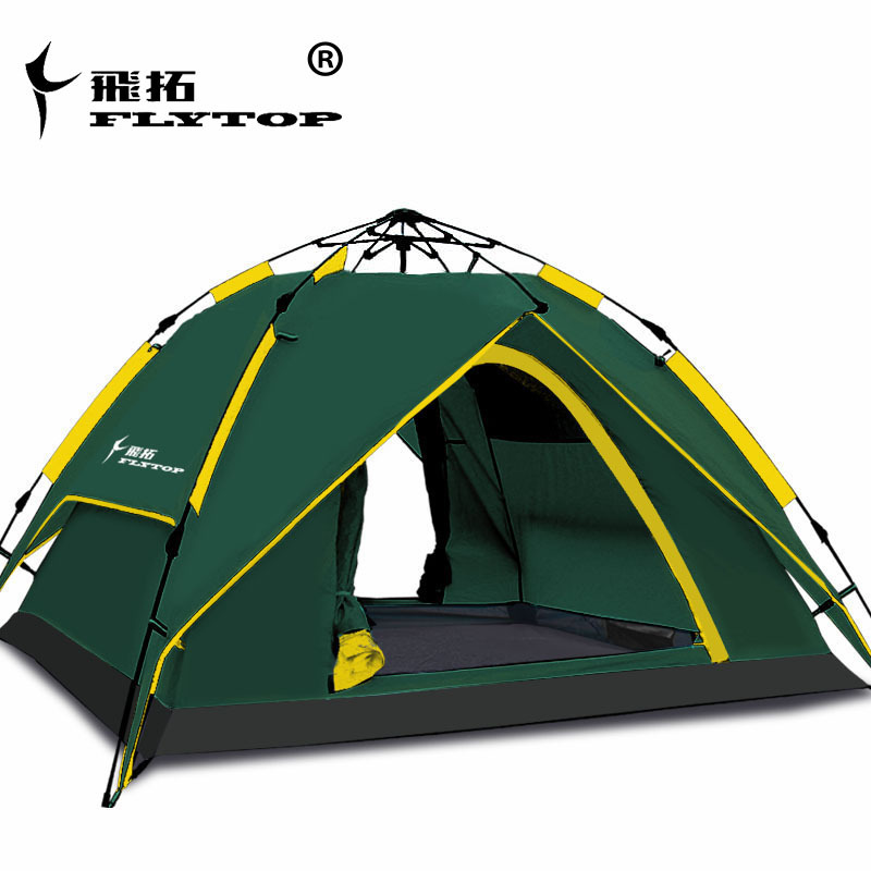 Factory straight sell ! 3-4 person use double layer automatic waterproof high quality tourist camping tent outdoor camping hiking automatic camping tent 4person double layer family tent sun shelter gazebo beach tent awning tourist tent