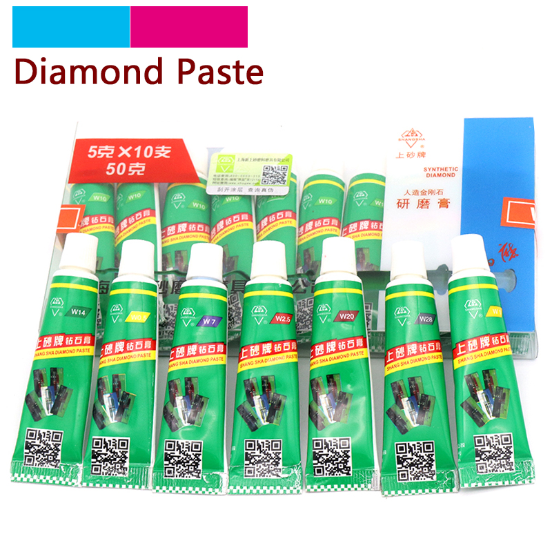 Beautiful 1pcs Diamond Grinding Polishing Paste W0.5-w40 Needle Tube Paste Lapping Compound Metal Jade Amber Buffing Abrasive Tools Meticulous Dyeing Processes Abrasives