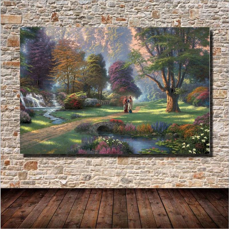 Les Krásná krajina Olejomalba Nástěnné umění Domácí dekorace Plátno Malování Pro Ložnici Obývací Pokoj Bez rámečku