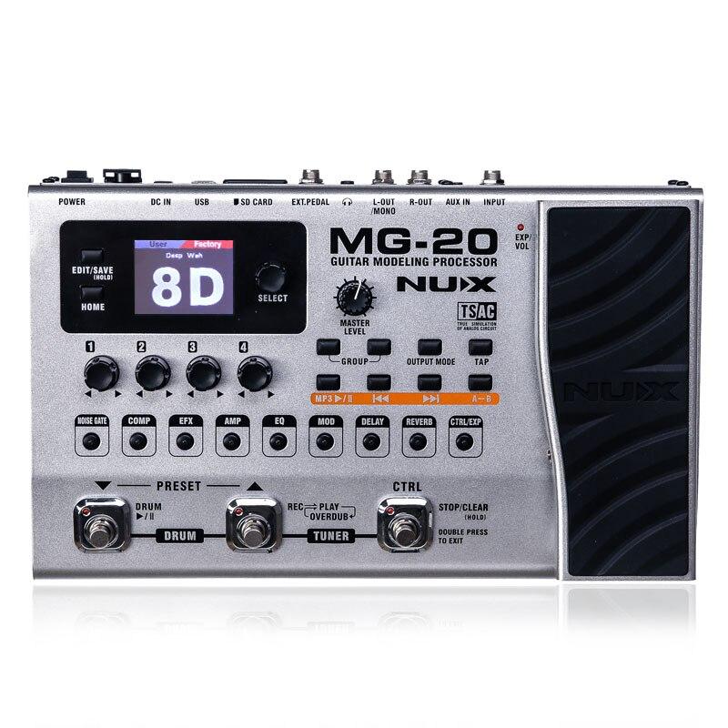 NUX MG-20 guitare multi-effets ampli pédale noir Digitech Multi effets modélisation processeur Guitarra boucle/Volume