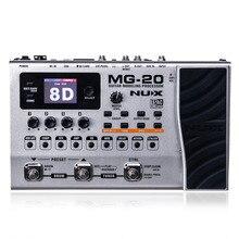 NUX MG-20 Guitar Multi-effects AMP Pedal Black Digitech Multi Effects Modeling Processor Guitarra Loop/ Volume стоимость