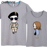 Fashion Women Men Descendants Of The Sun Couples T Shirt Cool Song Joong Ki Tee Lovers