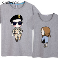Fashion Women Men Descendants Of The Sun Couples T Shirt Cool Song Joong Ki Tee Lovers