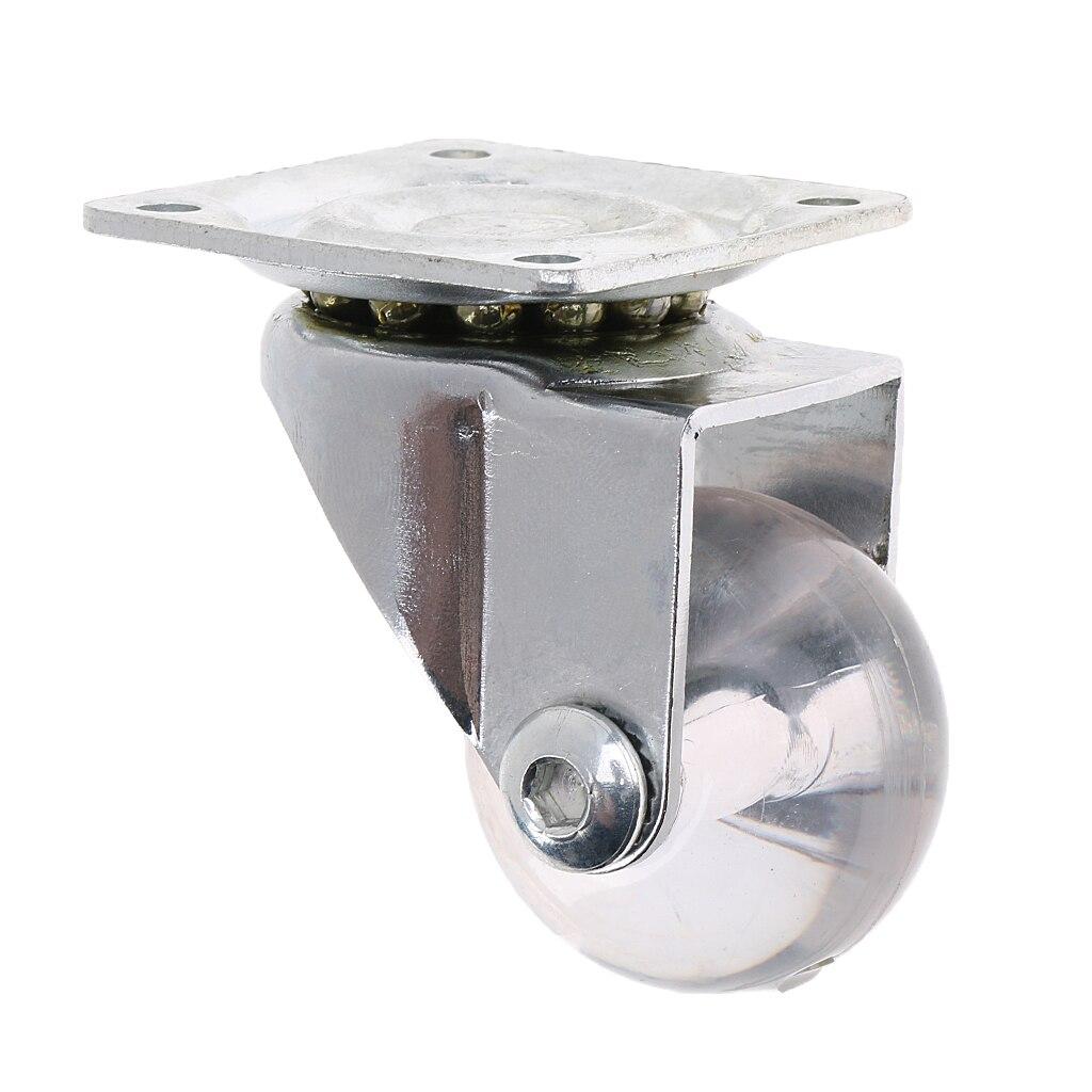 Roulette universelle claire de 1.5   Plaque pivotante pour meubles, chariot à berceau, appareils électriques, PU lisse et silencieux