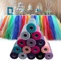 Multicolor tulle rolls diy artesanato decorativo rolo carretel tule para decoração fontes do partido do evento do casamento por atacado de 100 metros