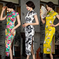 2016 spring modern cheongsam long dresses sexy wedding oriental cheongsam retro dresses chinese traditional style evening dress