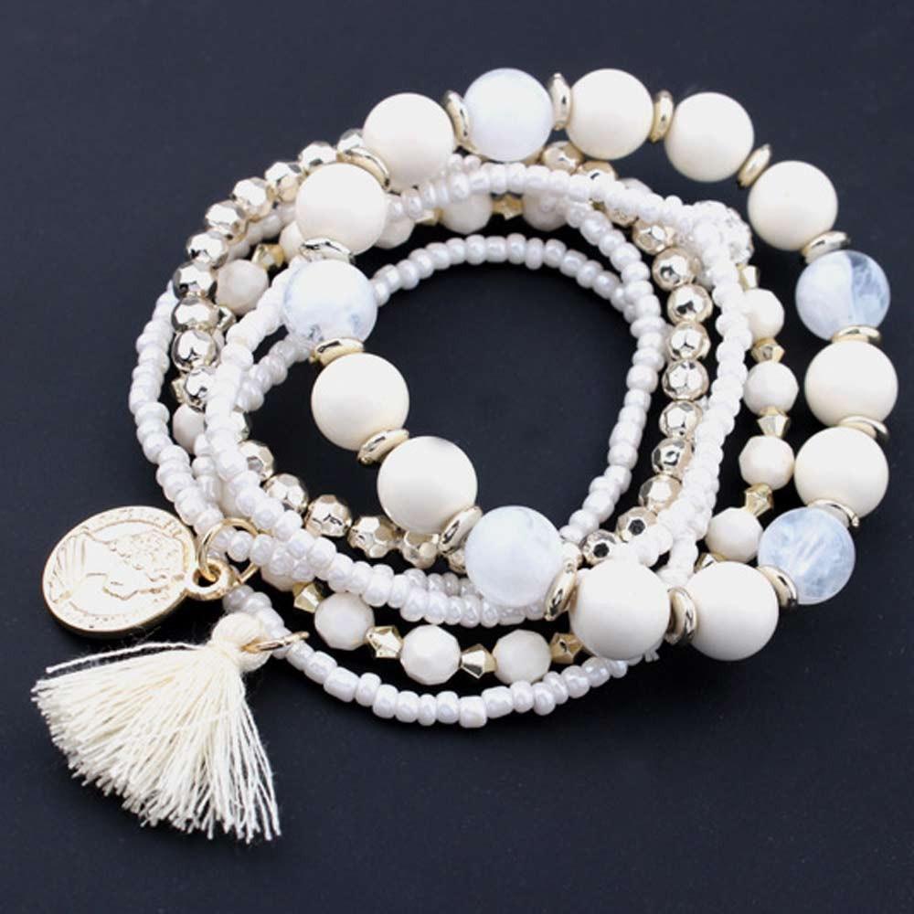 Multilayer Beads Bangle Tassels-Bracelets Fishion Women Hot-Brand Girl