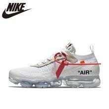 new style 36e17 06476 NIKE X blanc cassé VaporMax 2.0 authentique AIR MAX respirant chaussures de  course pour hommes Sport