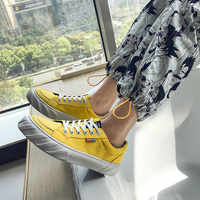 New Canvas Shoes Men Fashion Solid Colord Summer Canvas Men Shoelace Breathable Shoes Easy Matching Students Causal Shoes 39-44