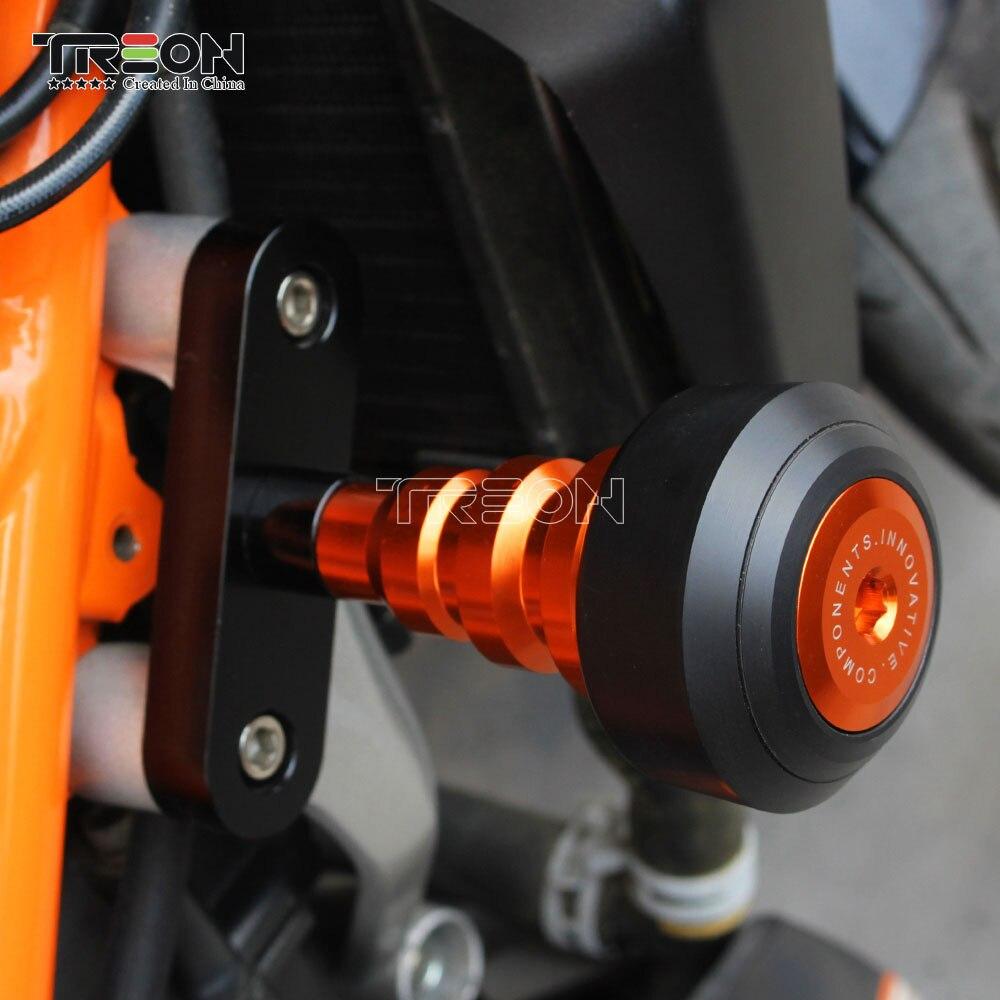 Accessoires Moto CNC aluminium Orange Protection contre les chutes curseurs Crash Moto housse KTM Duke 125 200 250 DUKE 390 2013-2018