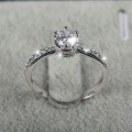 2016 NEW design Fashion Jewelry Luxury Women Engagement ring 925 sterling Silver 5A Zircon Wedding crown Rings