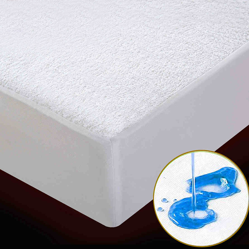 Terry Waterproof Mattress Protector <font><b>Cover</b></font> for <font><b>Bed</b></font> Wetting and <font><b>Bed</b></font> Bug Suit For American Mattress Queen,King Size 1PC