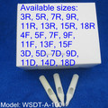 100pcs White Disposable Tattoo Tip Tube Nozzle Round Flat Diamond U Pick Size Supply WSDT-A-100#