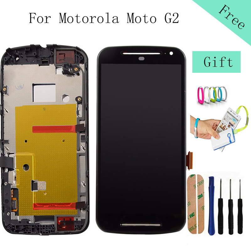 ФОТО Black White Good LCD Display For Motorola Moto G2 XT1063 XT1064 XT1068 5.0 inch Touch screen with digitizer Assembly